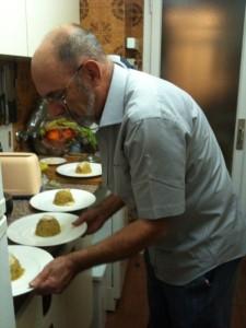 Luís Revilla en su cocina