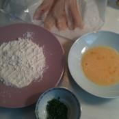 Lenguado, harina, huevo