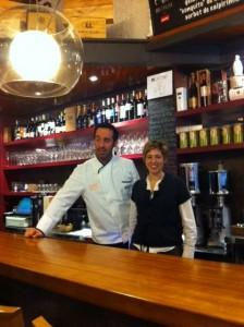 Chef Adelf Morales y su mujer Eva
