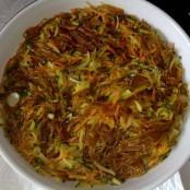 Pasta de boniato con verduras