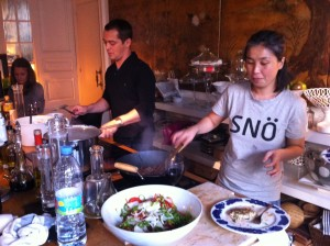 Ivonne cocinando