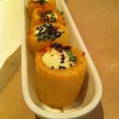 Patatas bravas niponas con wasabi