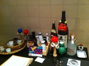 La mesa tributo al sake