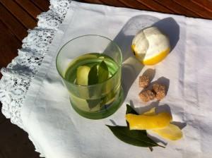 Infusión de limón y laurel