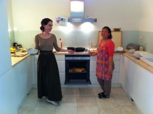 Rosa y Sirin y el cabrito en el horno