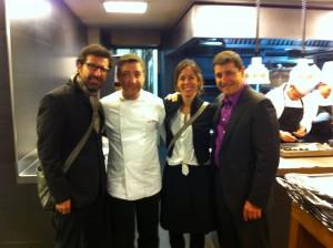 Alex, Joan, Lisi y Josep en la cocina del Celler de can Roca