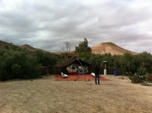 Vistas de la montaña y la haima donde cenábamos