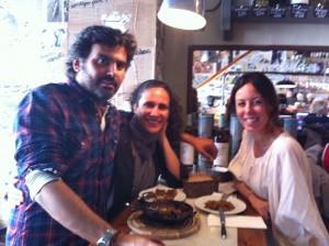 Isidro, Myriam y yo