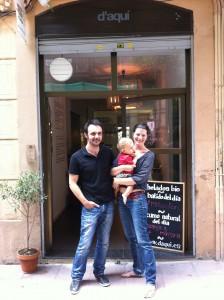 Cecile con su marido y su hijo Lino