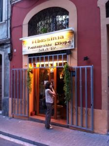 Entrada al restaurante en Torrent de les Flors