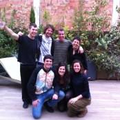 Roger, Mauricio, Lluís, Yolanda, Roberto, Gemma y Lisi