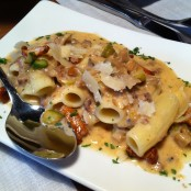 Penne con ceps