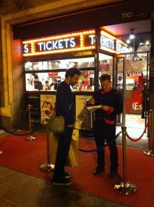La entrada al Tickets