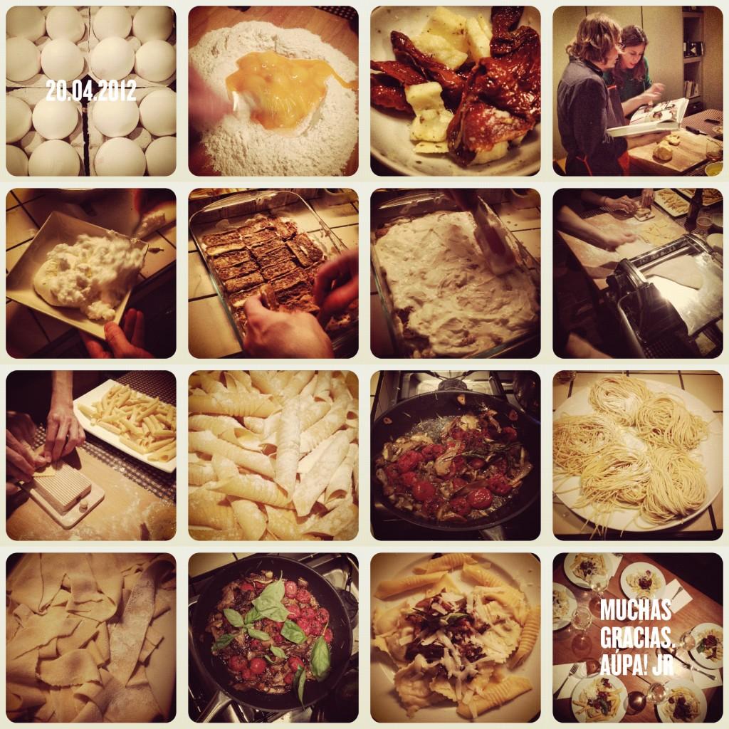 collage del taller de pasta