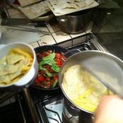 Sirviendo los platos