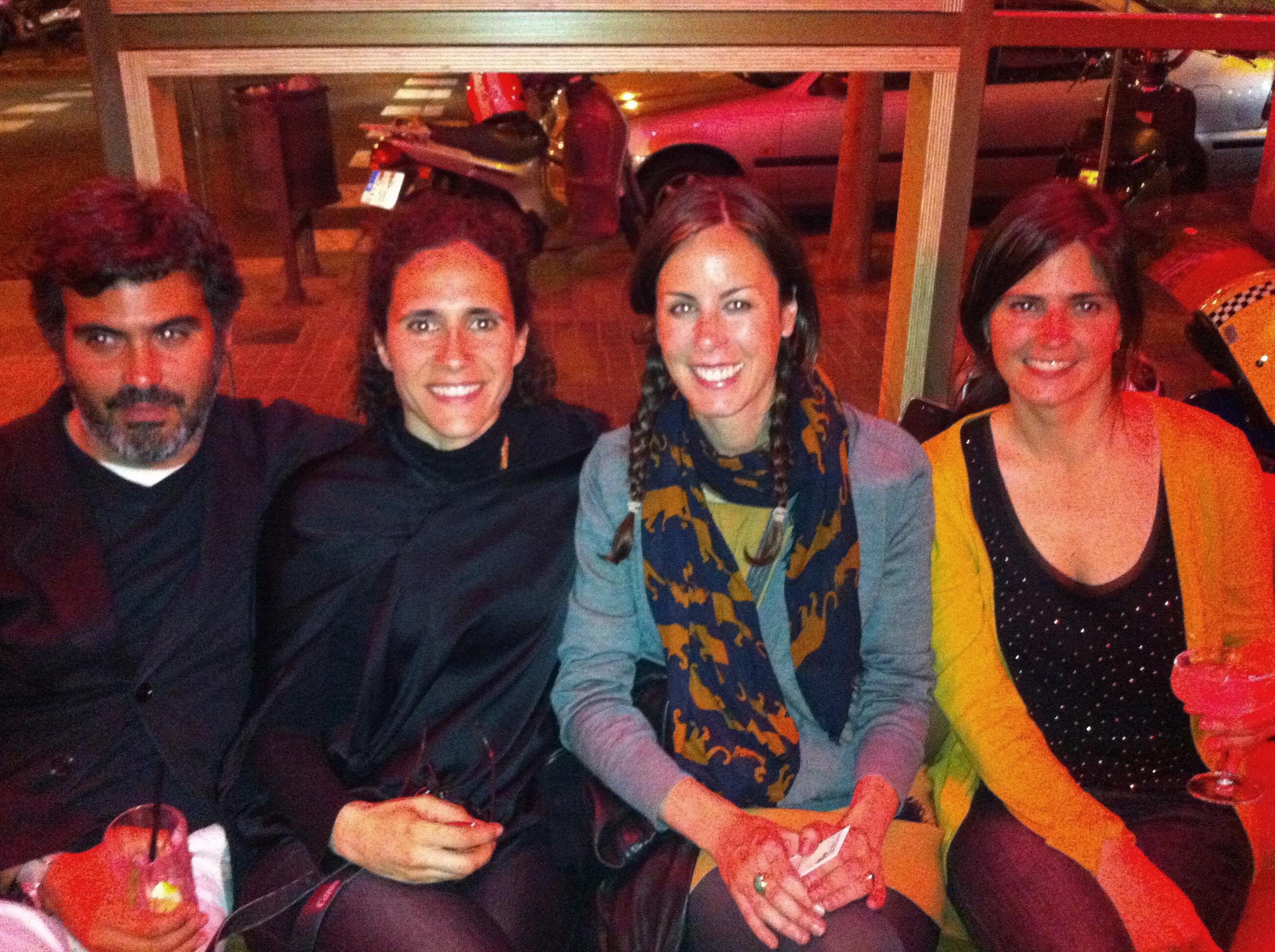 Isidro, Myriam, Lisi y Susana
