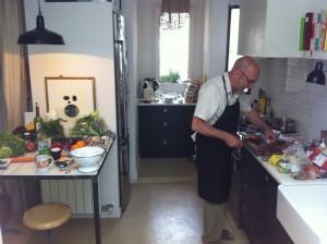 El chef Luis en la cocina
