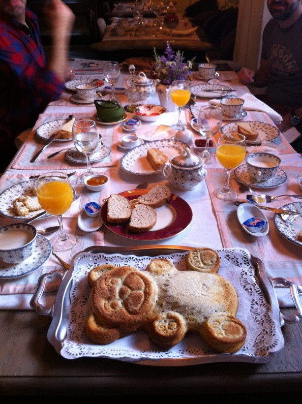 El desayuno del Iraragorri Etxea
