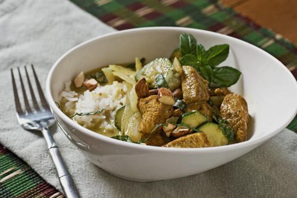 Pollo al curry (foto propiedad de Cooking on the side)