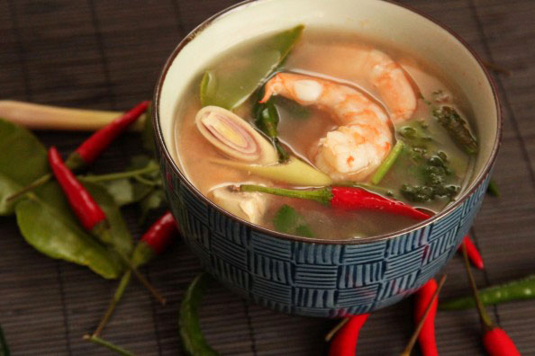 Spicy Prawn Soup - Tom Yum Goong