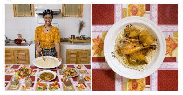 Algeria, Cous cous de pollo y verduras