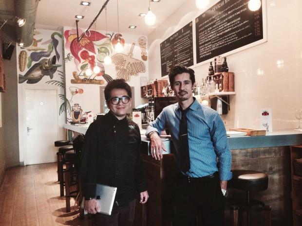 Nicky Ramos y Patrick Weber en el interior de The Maket