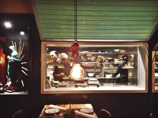 La cocina vista del Oaxaca
