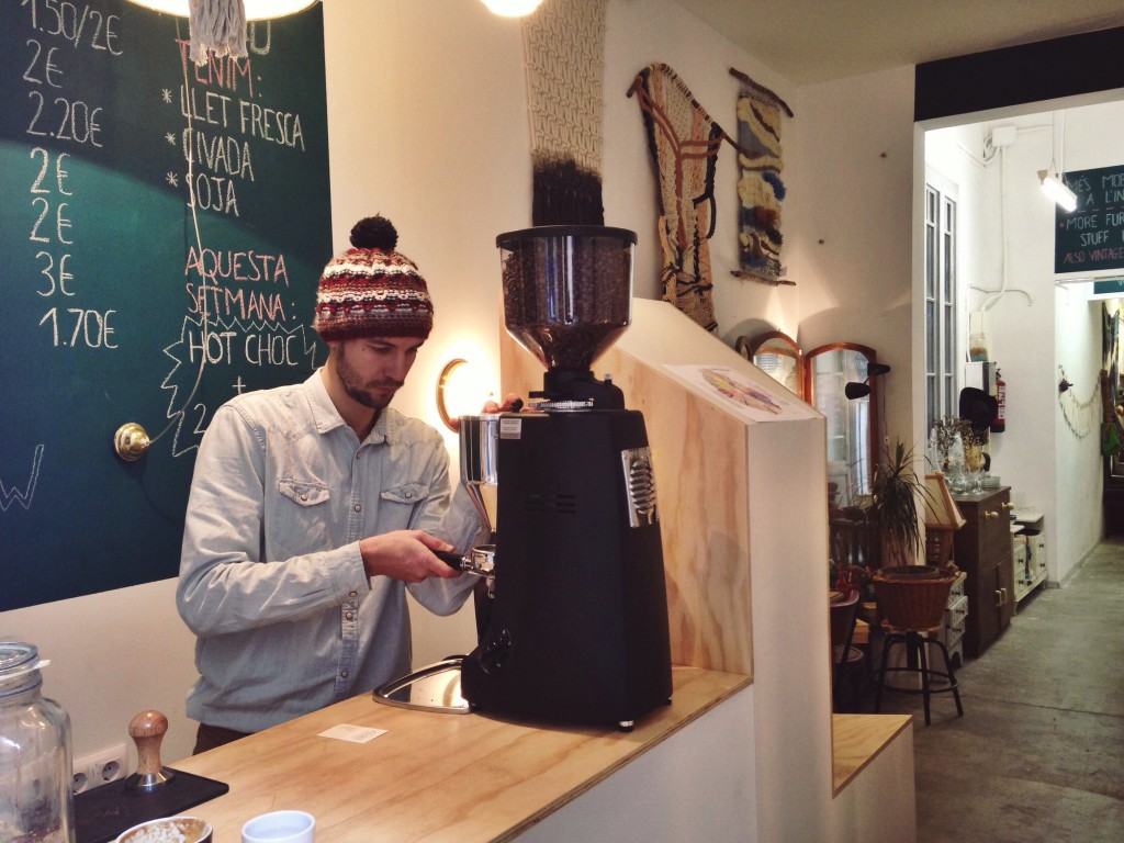 Bernat, el barista del Coffee & Wood