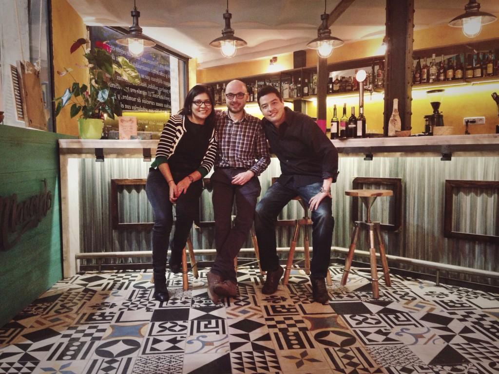 Carol, Stefano y Francisco en el Macondo