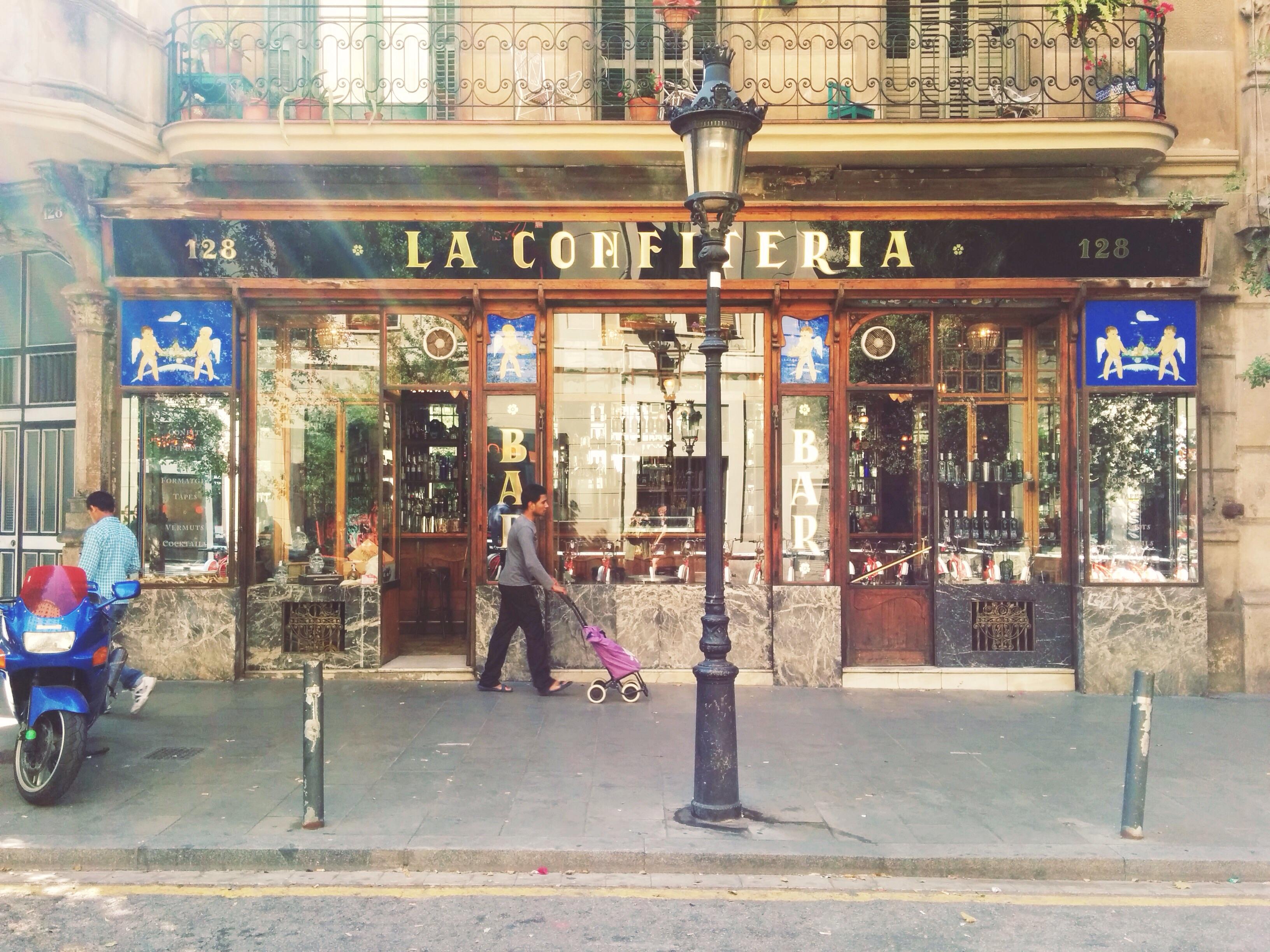 La maravillosa fachada de La Confitería