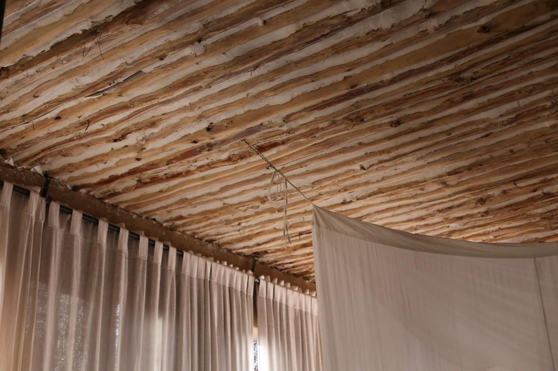 El techo del mud lodge