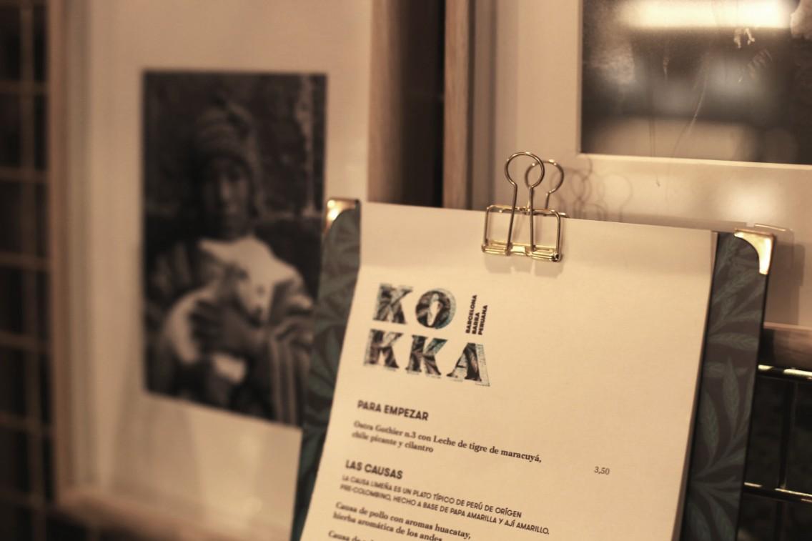 El logotipo y carta del Kokka