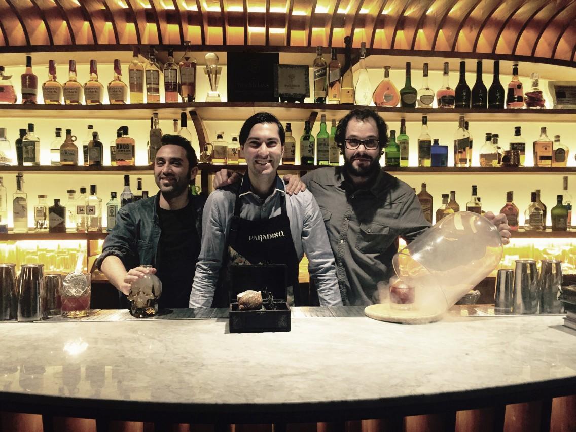 Lito, Giacomo y Enric en El Paradiso