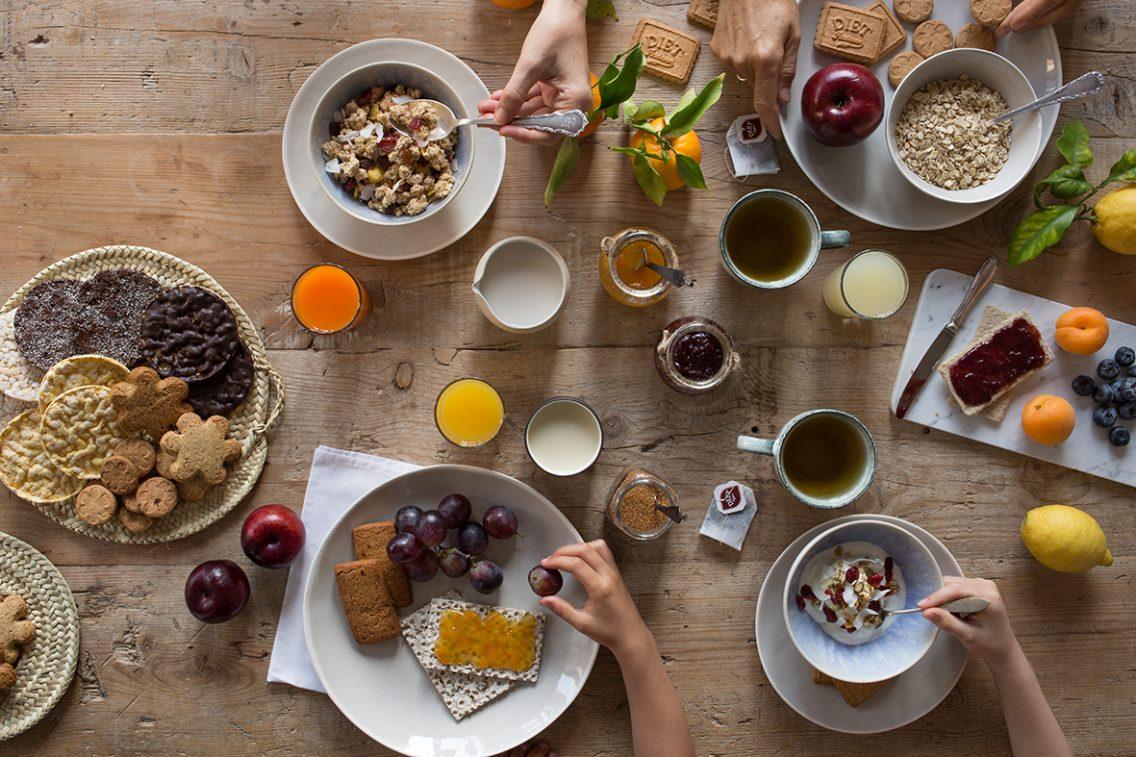 Bodegón para Diet Rádisson de sus productos para el desayuno