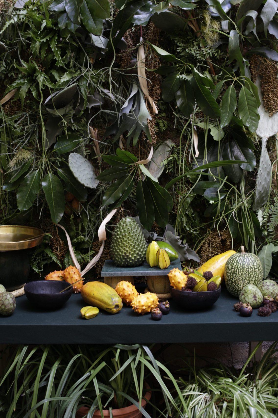 El precioso bodegón de frutas tropicales que hizo Pepi para el evento de Hermés