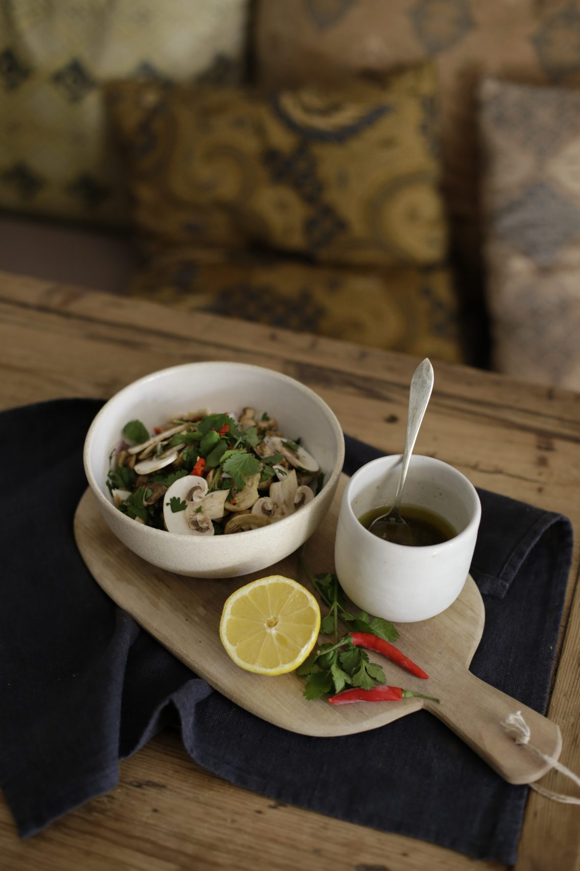 Ensalada thai de champiñones