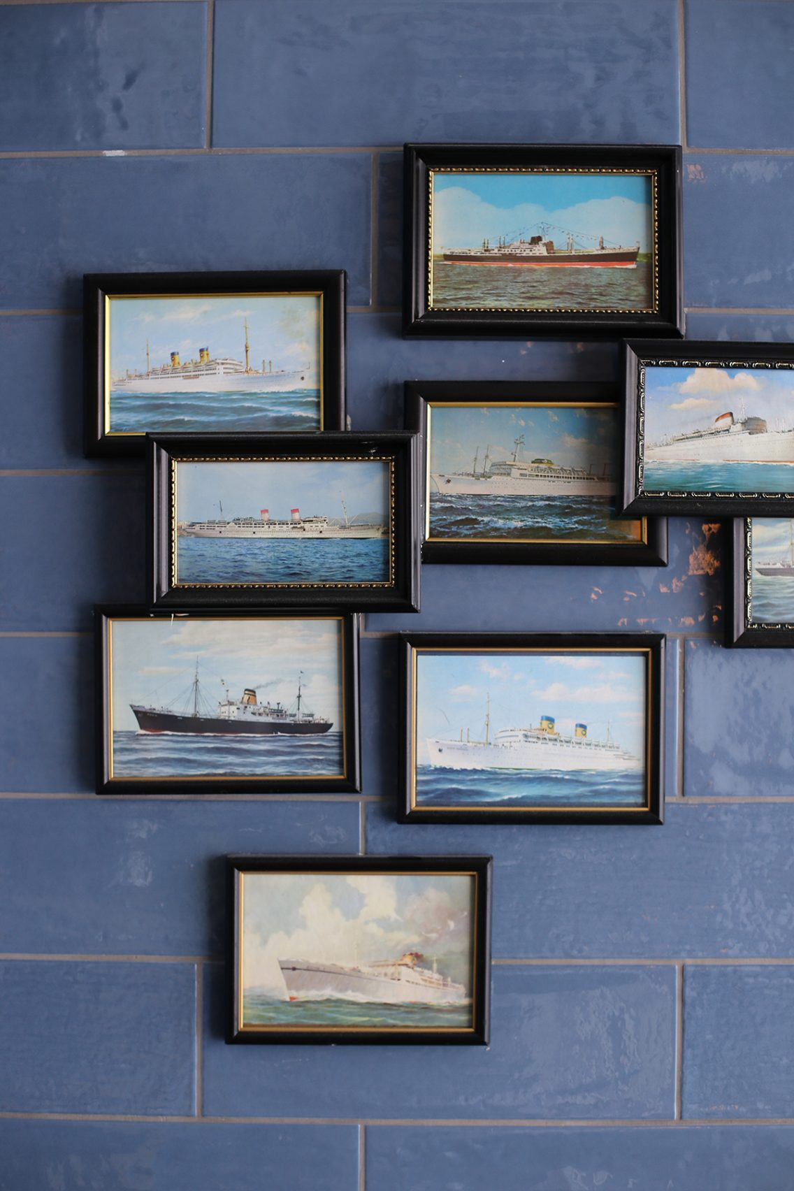 Los detalles marinos de las paredes del Ultramar