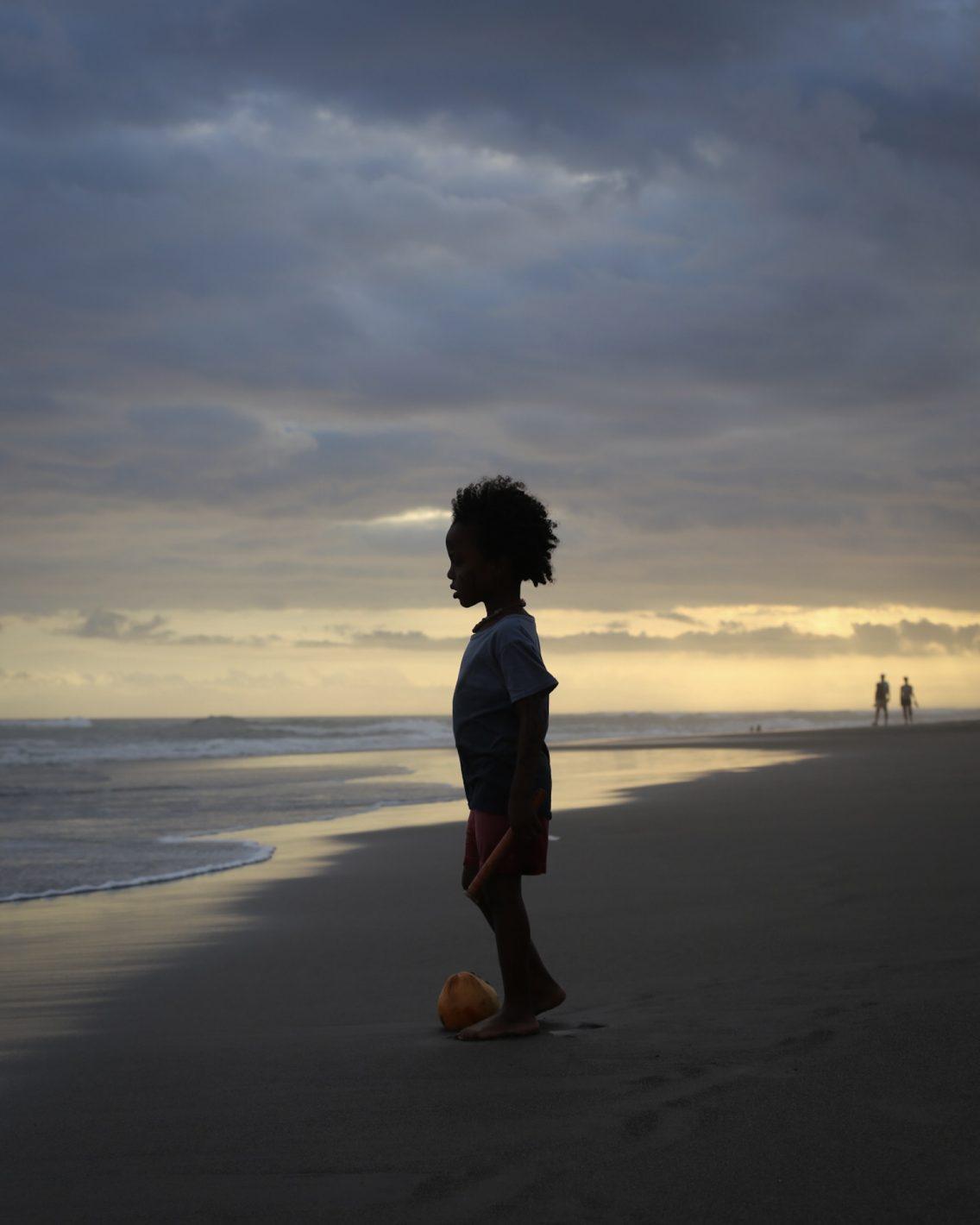 Enjoying sunset at Batu Bolong beach