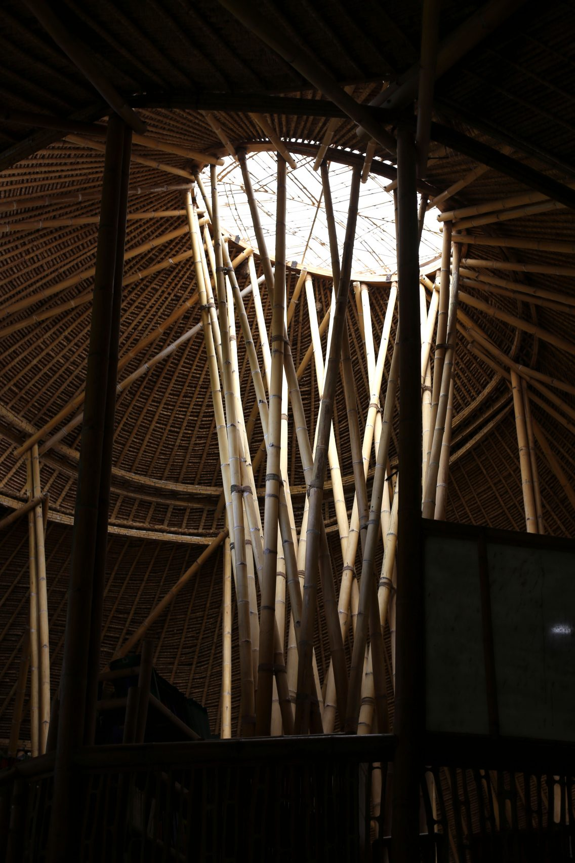 The heart of the Green School, the bamboo cathedral